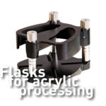 Flasks for acrylic processing